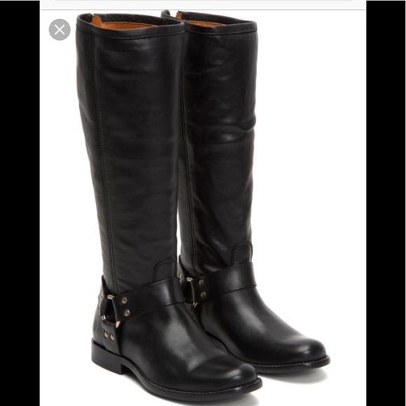 35d3fcf94f1 Frye Shoes   Phillip Harness Tall Black Boots   Poshmark